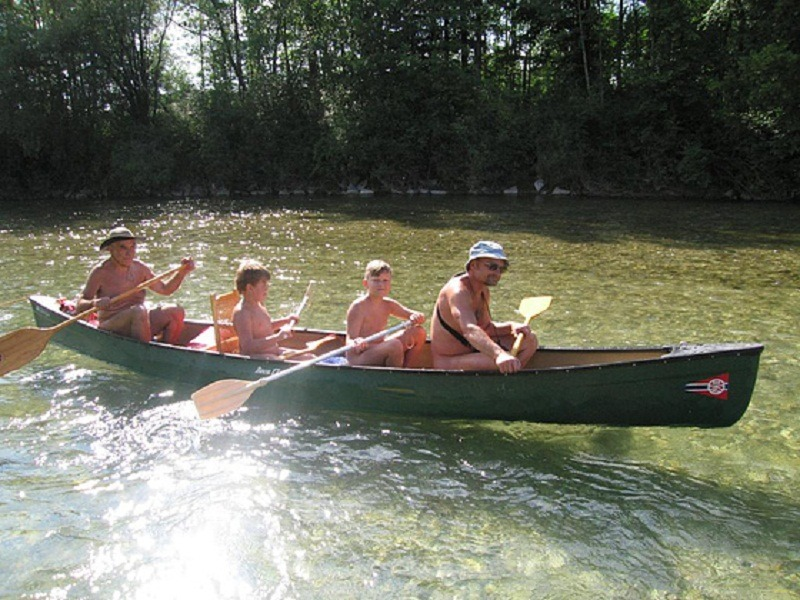 naked canoeing