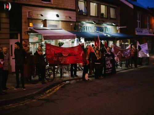 Sheffield IWW picketing the Greedy Greek