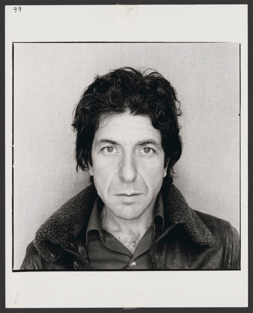Leonard Cohen, 1977. Photograph byArnaud Maggs. Found at Library and Archives Canada.