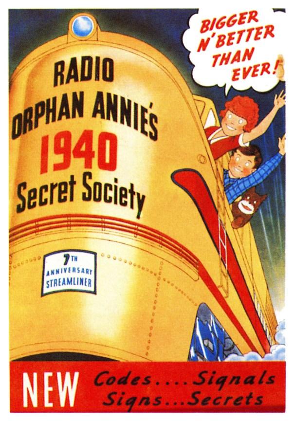 Little Orphan Annie radio program poster - 1940