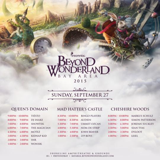 beyond wonderland 2015 lineup poster