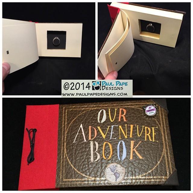 #Disney #Pixar #Up #myadventurebook #OurAdventureBook #custom #engagement #ringbox by #paulpapedesigns
