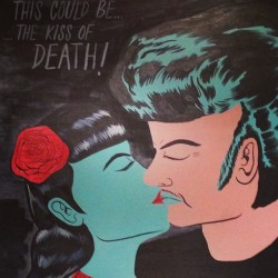 Kiss of Death painting detail #steviegee (at Tongue)