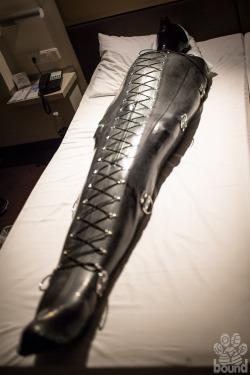 latex sleepsack bondage