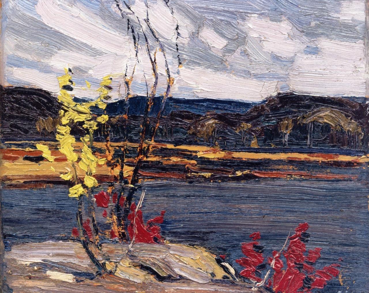 artishardgr:  Tom Thomson - Autumn, Algonquin Park 1916