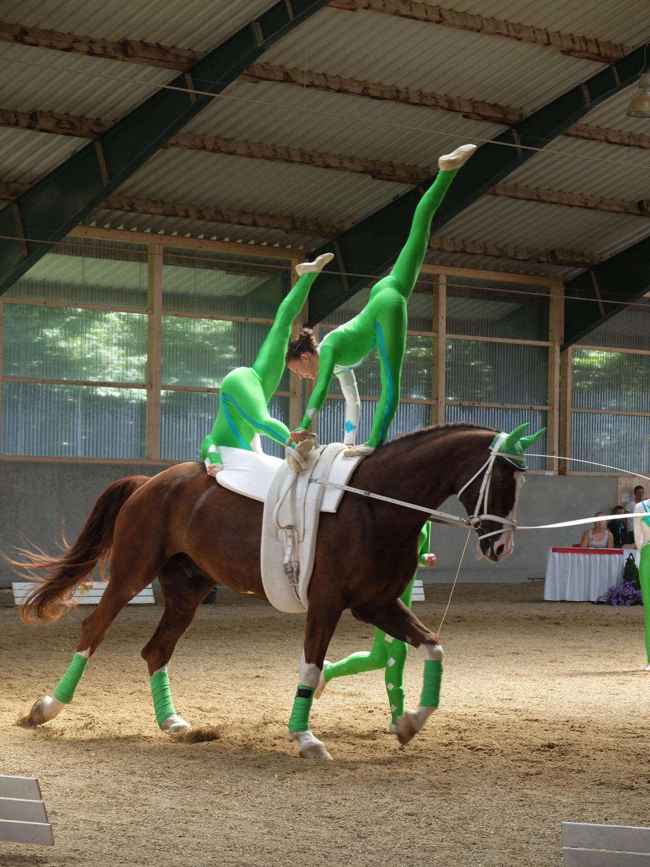 mangia minga - gymnastics on horseback, team RVC Gilching Junior 1
