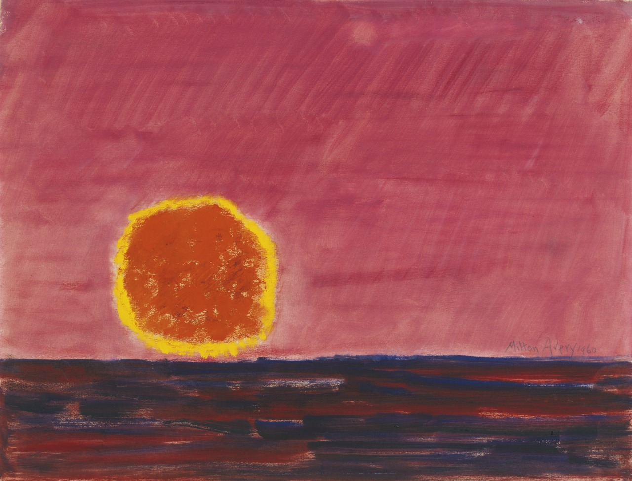 thunderstruck9:Milton Avery (American, 1885-1965), Ringed Sun, 1960. Oil on paper, 17 1/2 x 23 in.