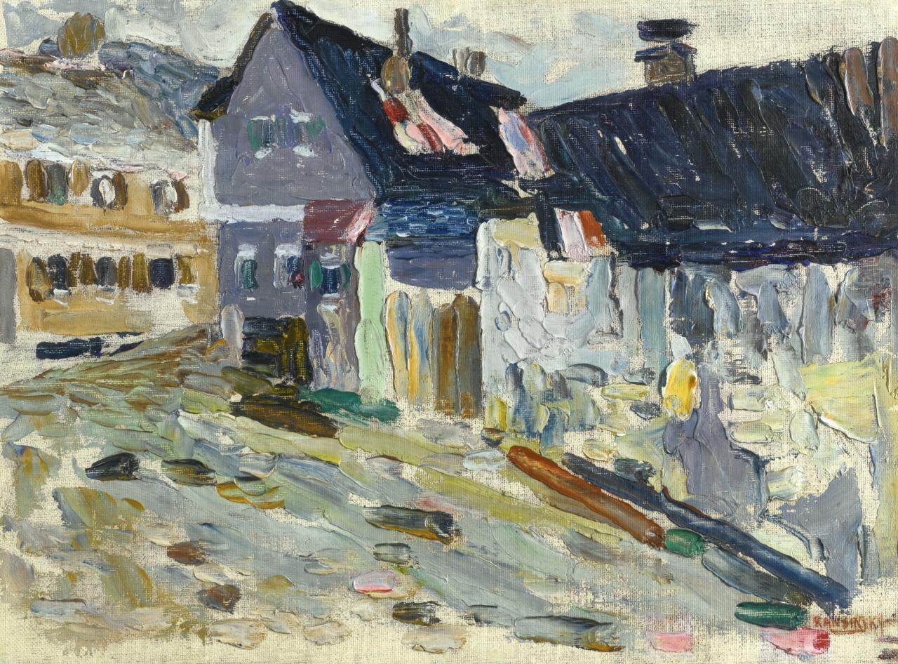 lawrenceleemagnuson:  Wassily Kandinsky (1866-1944)Kallmünz, Regentag - Kallmünz, A Rainy Day (1903)oil on canvasboard 24 x 33 cm