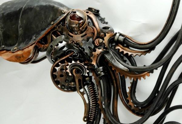 Steampunk Metal Sculpture Art