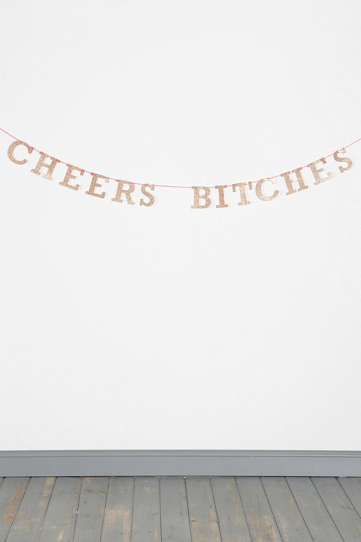 banner cheers bitches birthday urban outfitters