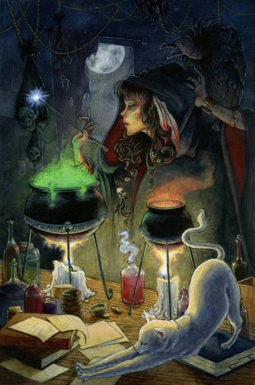 cat drawing painting moon nature Magic natural Witch candles witchcraft spell magical Spiritual
