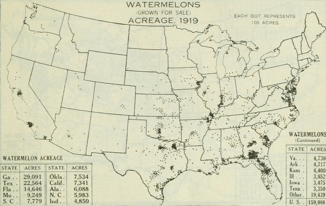 Making maps diy cartography resources and ideas for making maps map watermelons grown 1919 gumiabroncs Gallery