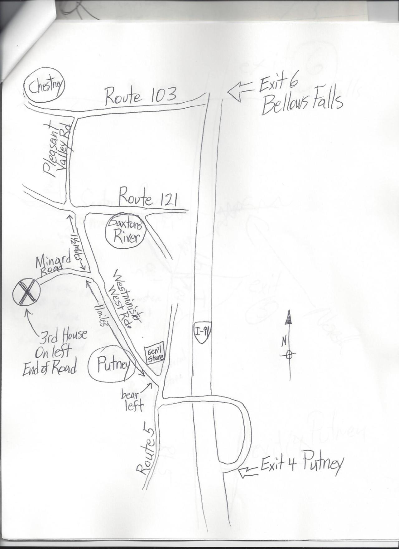 Rough sketch 2 for directions map