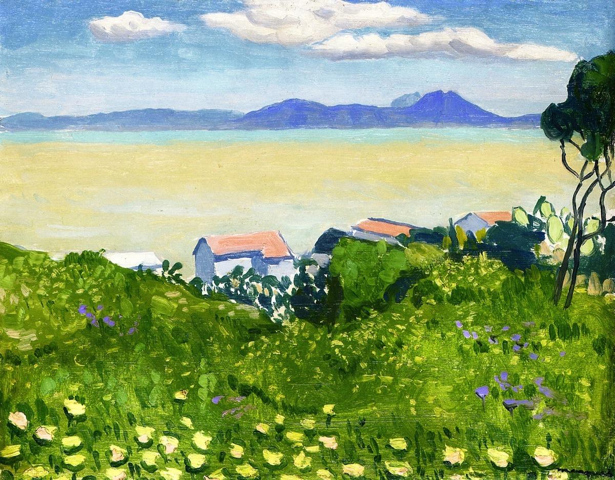 dappledwithshadow:Flowering FieldAlbert Marquet - 1923
