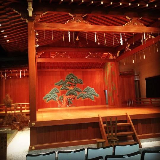 青島神社 能楽堂