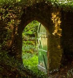 green nature fantasy my upload castle fairy tale medieval stone myth Gate Ivy ruins enchanting garden gate silvaris magical landscape silvaris •