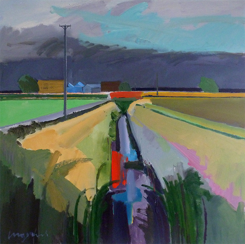 group-eight: Storm coming over Methwold Fen, Oct 2013Acrylic on panel Fred Ingrams