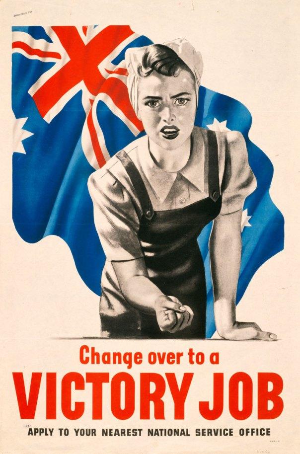 Australian World War II propaganda poster - 1943