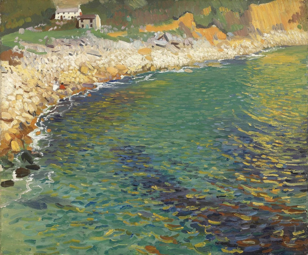 saltyinfluencersoul: radstudies: Laura Knight (English, 1877-1970) Lamorna Cove Fantastic landscape.