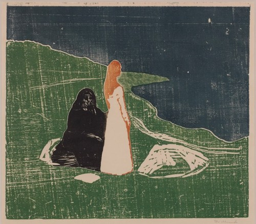 allotherthingsintheworld: Edvard Munch - Women on the seashore (1898)