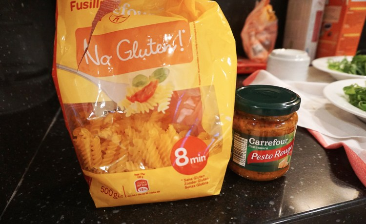 Gluten free pasta and pesto | Gluten free Cannes | South of France