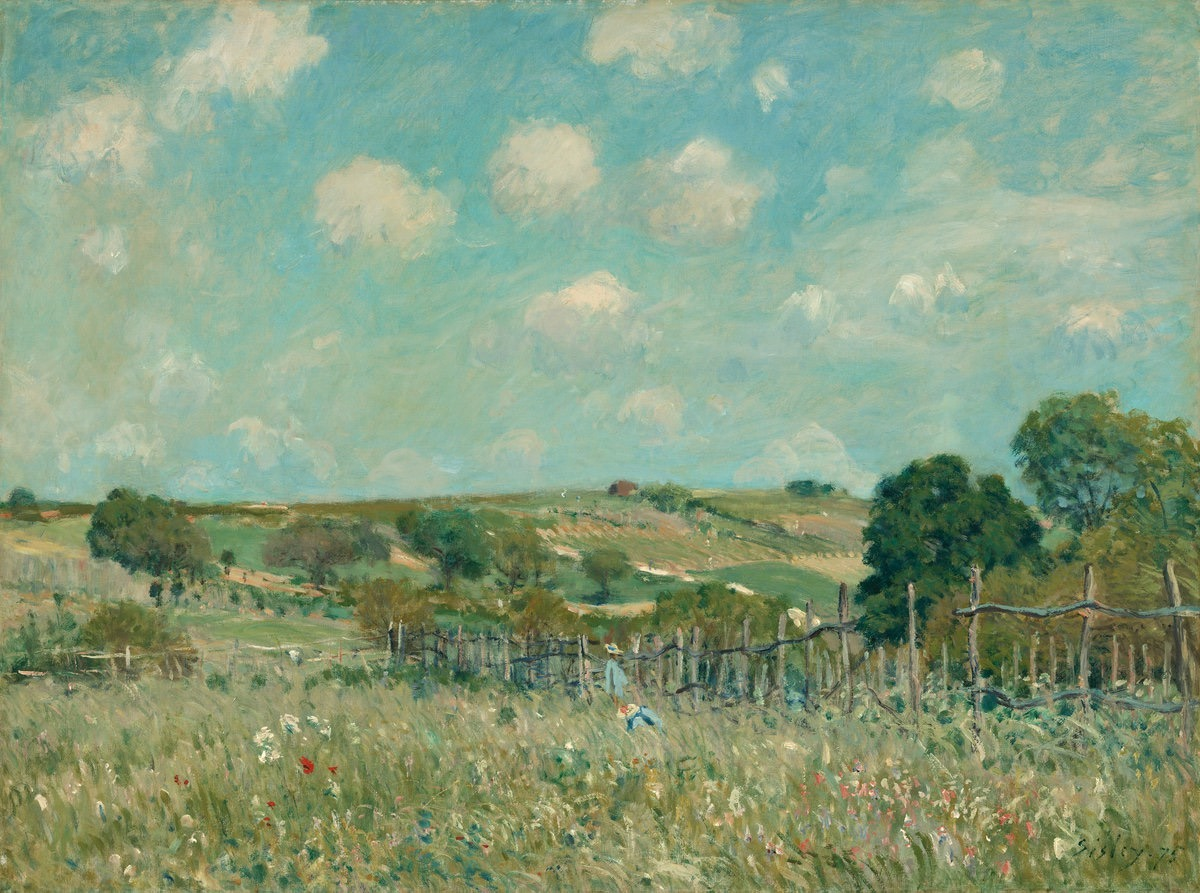 herzogtum-sachsen-weissenfels:  Alfred Sisley (French,1839-1899), Meadow, 1875. Oil on canvas,54.9 x 73 cm.