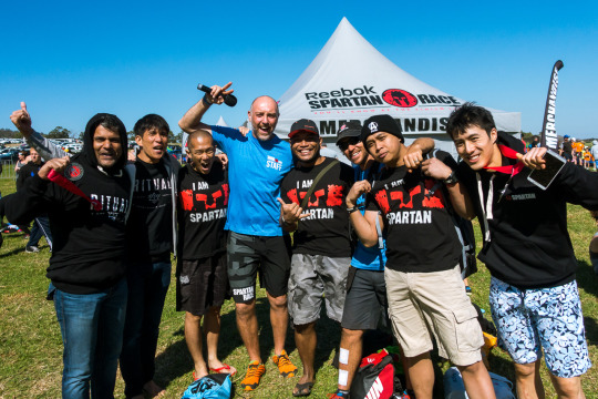 With Max Delacy (CEO) and Paul Harwood (Race Director) of Spartan Race Australia.