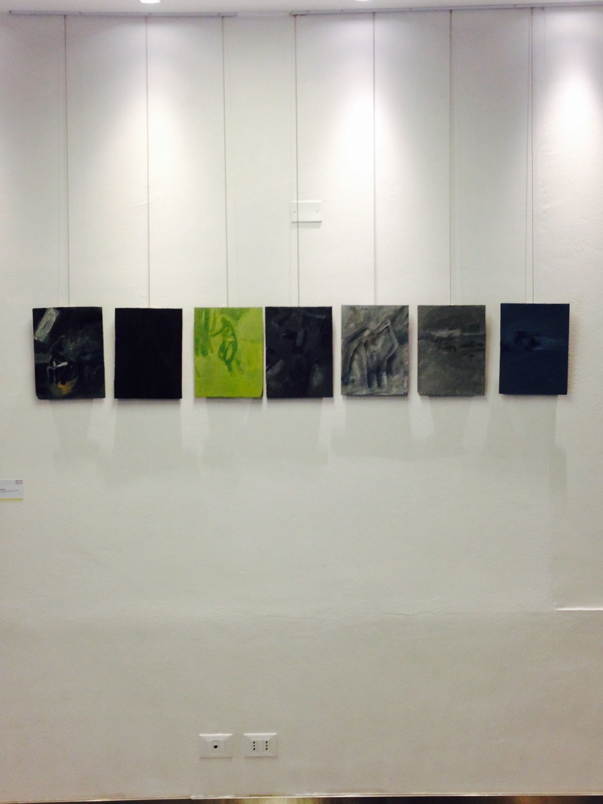 23.05.2015 Giuseppe Renda,allestimento galleria Duomo, Studi Aperti