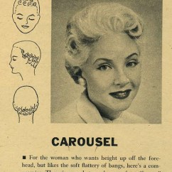 Vintage Pin Curls Diagram Hunter Fan Outdoor 1940s Curl For A Youthful Casual Style Curling Patterns Hair Inspiration Styles