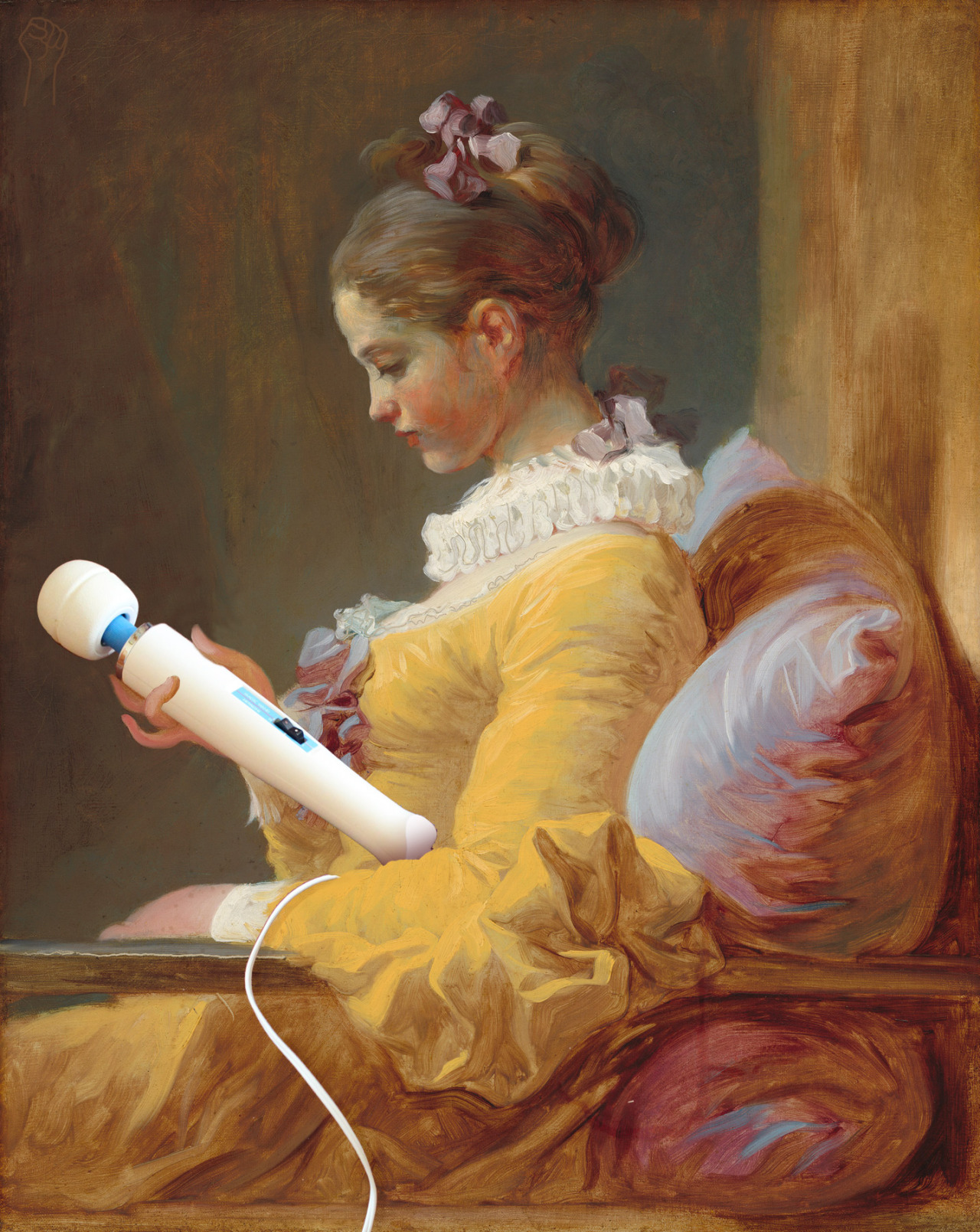 Young Girl Contemplating Magic Wand by Jean-Honore Fragonard.