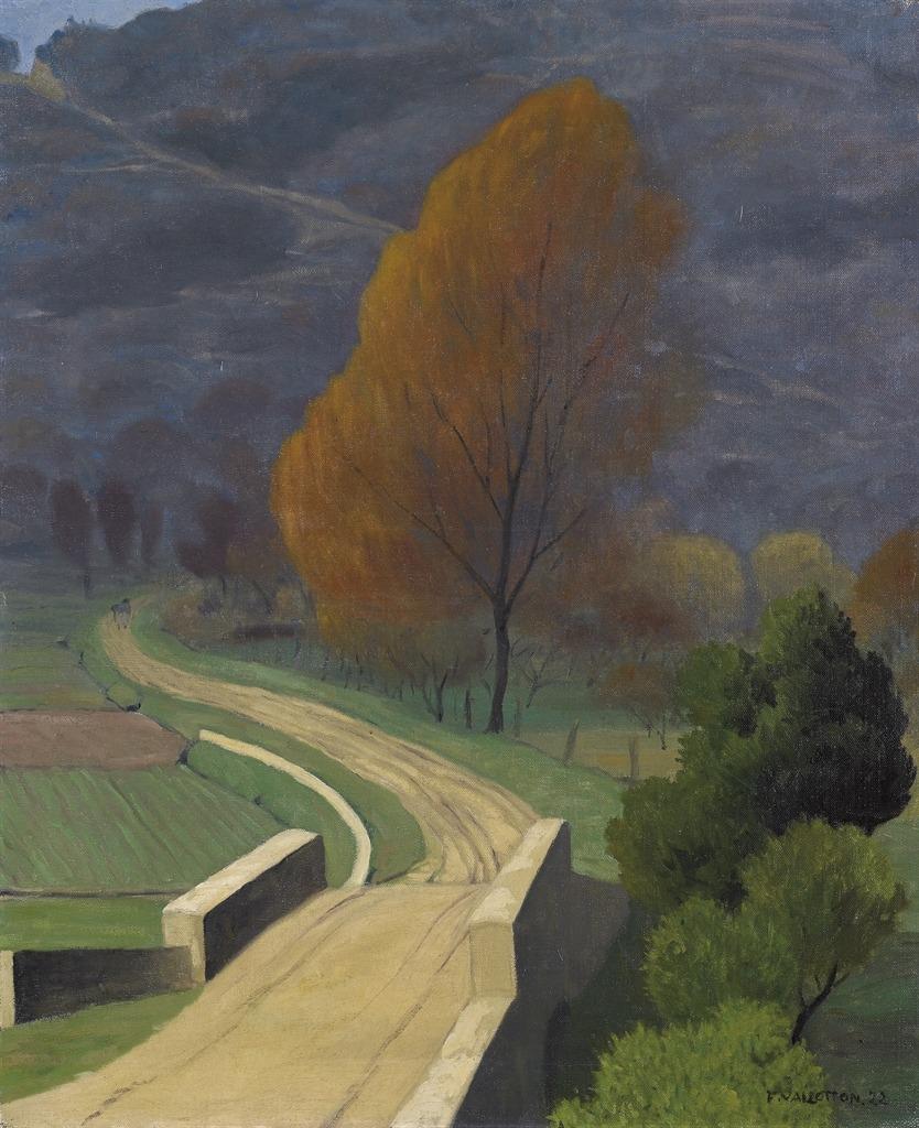 thunderstruck9:  Félix Vallotton (Swiss, 1865-1925), Pont sur le béal, 1922. Oil on canvas, 73 x 60 cm.
