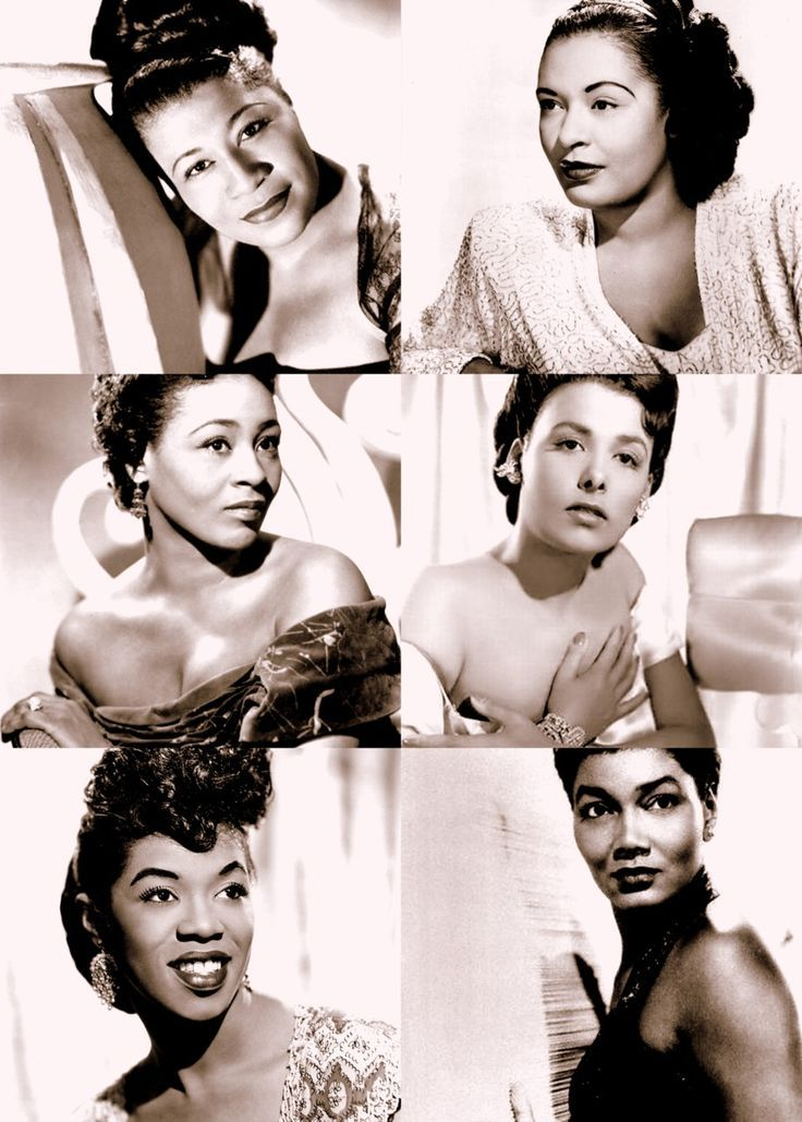 Ladies of Jazz:  Ella Fitzgerald (April 17th, 1917 - June 15th, 1996)  Billie Holiday (April 7th, 1915 - June 17th, 1959)  Thelma Carpenter (January 15th, 1922 - May 14th, 1997)   Lena Horne (June 30th, 1917 - May 9th, 2010)   Sarah Vaughan (March 27th, 1954 - April 3rd, 1990)   Pearl Bailey (March 29th, 1918 - August 17th, 1990)
