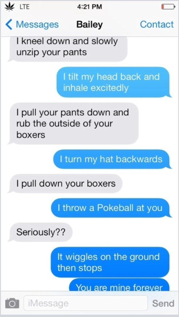 Dirty text messages to girlfriend