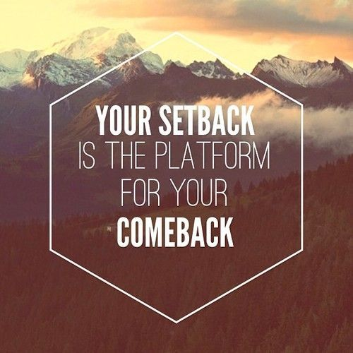 tips for dealing with setbacks