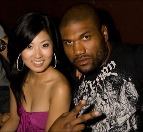 "Quinton ""Rampage"" Jackson, African American, mixed martial arts champion and actor, and his wife, Yuki Jackson, Japanese. Read more at http://asianblackcouples.com/celebrity-japanese-and-black-couples-past-and-present/"