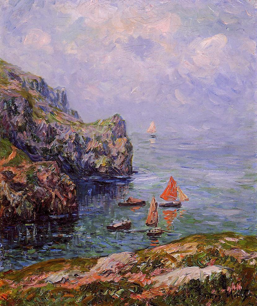 artishardgr: Henri Moret - Misty Weather, Brizellec Finistere 1911