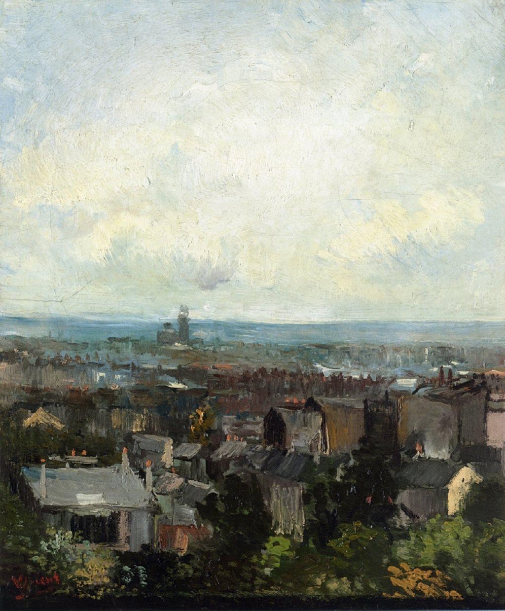 Van Gogh, Rooftops in Paris, Spring 1886. Oil on canvas, 45.6 x 38.5 cm. National Gallery of Ireland, Dublin.