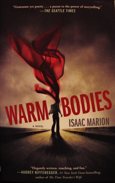Warm Bodies by Isaac Marion Reviewed by Miranda BoyerI was in the midst of my finals and in dire need of something light and fun to read. Lucky for me Audible had a sale a couple of weeks ago and I bought a handful of books for $5 each! I can't speak for the<br /><br /><br /> rest of the world, but I love to have an audiobook on standby for when I'm<br /><br /><br /> driving, doing dishes, or even just relaxing. Since I'm a sucker for a book on<br /><br /><br /> sale, in any way, shape, or form, I have an endless supply of options to pick<br /><br /><br /> from. Visually speaking, Isaac Marion's book Warm Bodies is a mental delight. It's a quick read, sitting at a<br /><br /><br /> mere 240 pages it made for a wonderful zombalishious snack. I have to give a<br /><br /><br /> nod to my fellow Seattle author. I'd be lying if I said I wasn't more then a<br /><br /><br /> little excited to meet him at Emerald City Comic Con later this month. The book was well written, but more then that it was fresh.<br /><br /><br /> The main character, R, is a zombie and as the reader we get to experience the<br /><br /><br /> world from his point of view. The book grows in consciousness as R does. I<br /><br /><br /> can't say if it was intentional or not, but the descriptions, and artistry of<br /><br /><br /> Marion's writing grows to a climax right along with R's own transformation from<br /><br /><br /> zombie to human. I've often wondered if it is possible to care passionately for<br /><br /><br /> something that contemporary mythos deem a monstrosity, and the resounding<br /><br /><br /> answer is yes. Marion has created a mesmerizing evolution of a being, bringing<br /><br /><br /> together both the mob mentality of your typical zombie movie and the genital<br /><br /><br /> romance of first love. Who would have thought it was possible?! I enjoyed this book very much and I look forward to watching<br /><br /><br /> the movie later this week! Did you read Warm<br /><br /><br /> Bodies? What were your thoughts?
