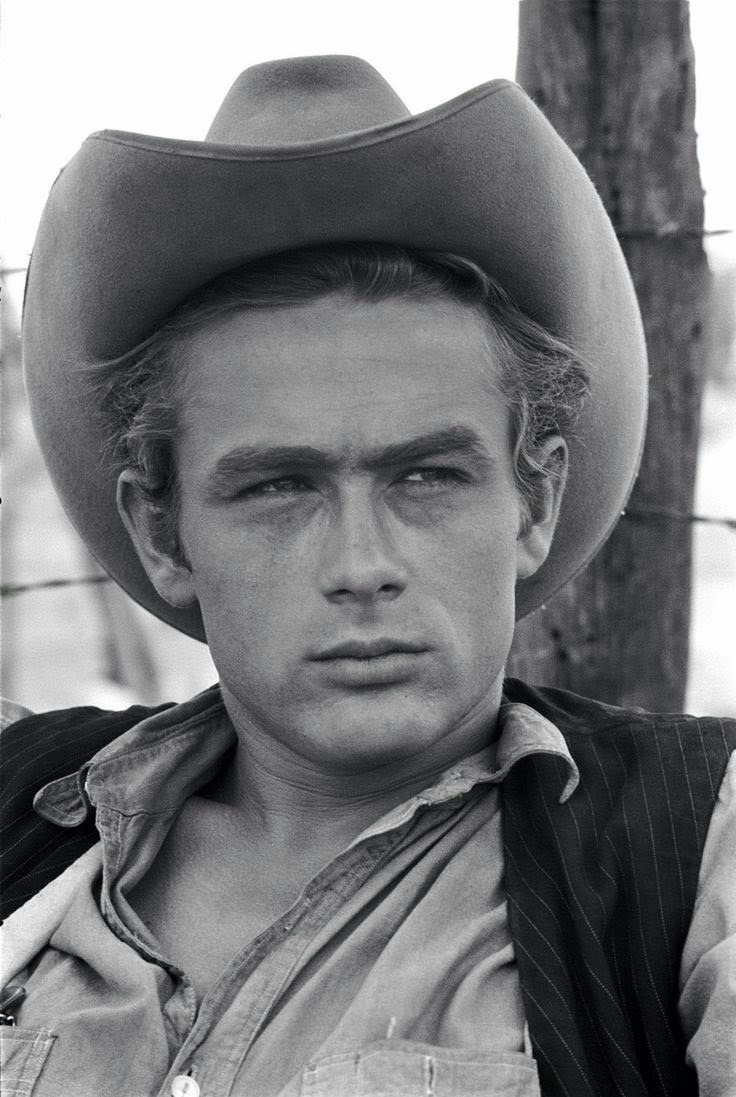 lottereinigerforever:James Dean on the set of Giant, 1955