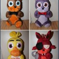 My friend is selling some ooak five nights at freddy s plushies