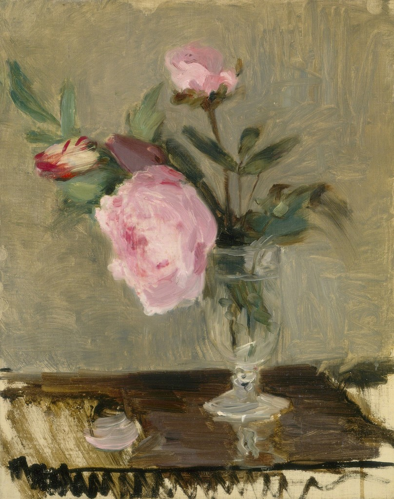 herzogtum-sachsen-weissenfels: Berthe Morisot (French, 1841-1895), Peonies, c. 1869. Oil on canvas,40.8 x 33 cm.
