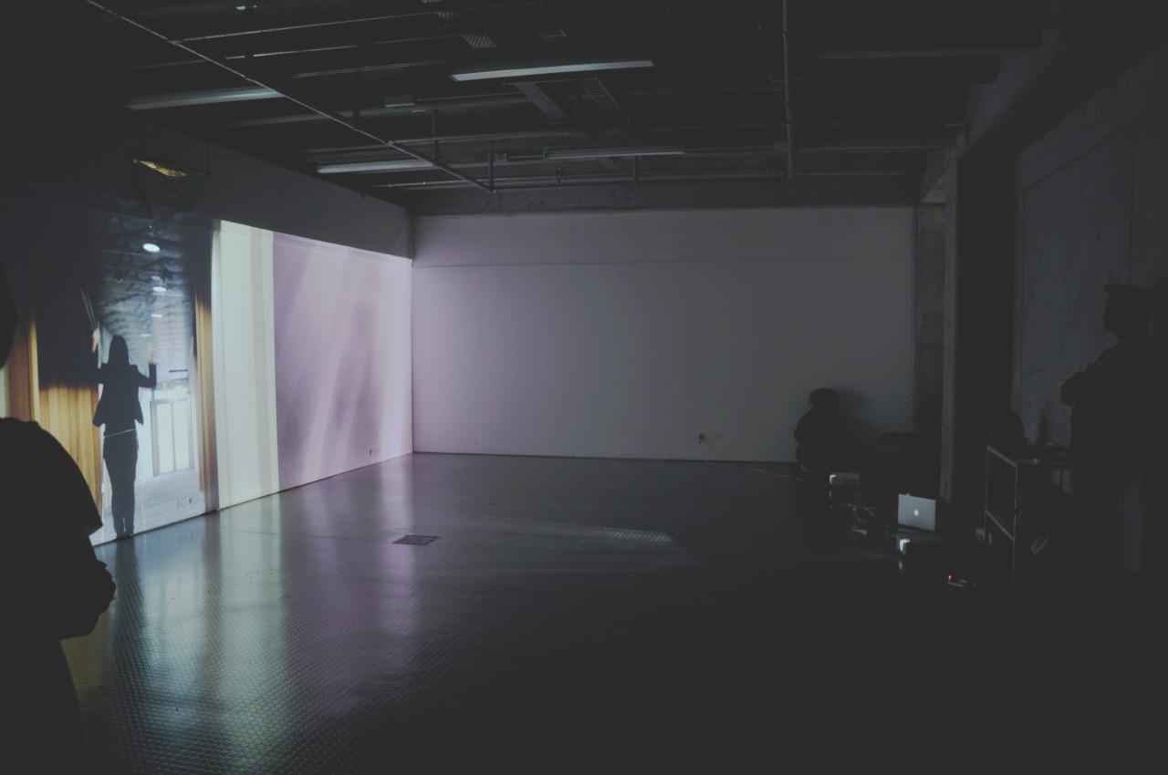 Suzie Gorodi's three channel video installation