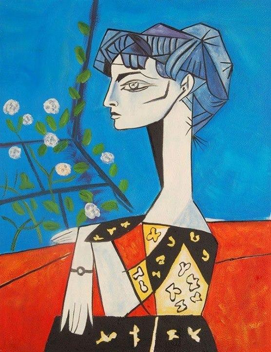 carminecitro:  Picasso, Jacqueline con fiori, 1954