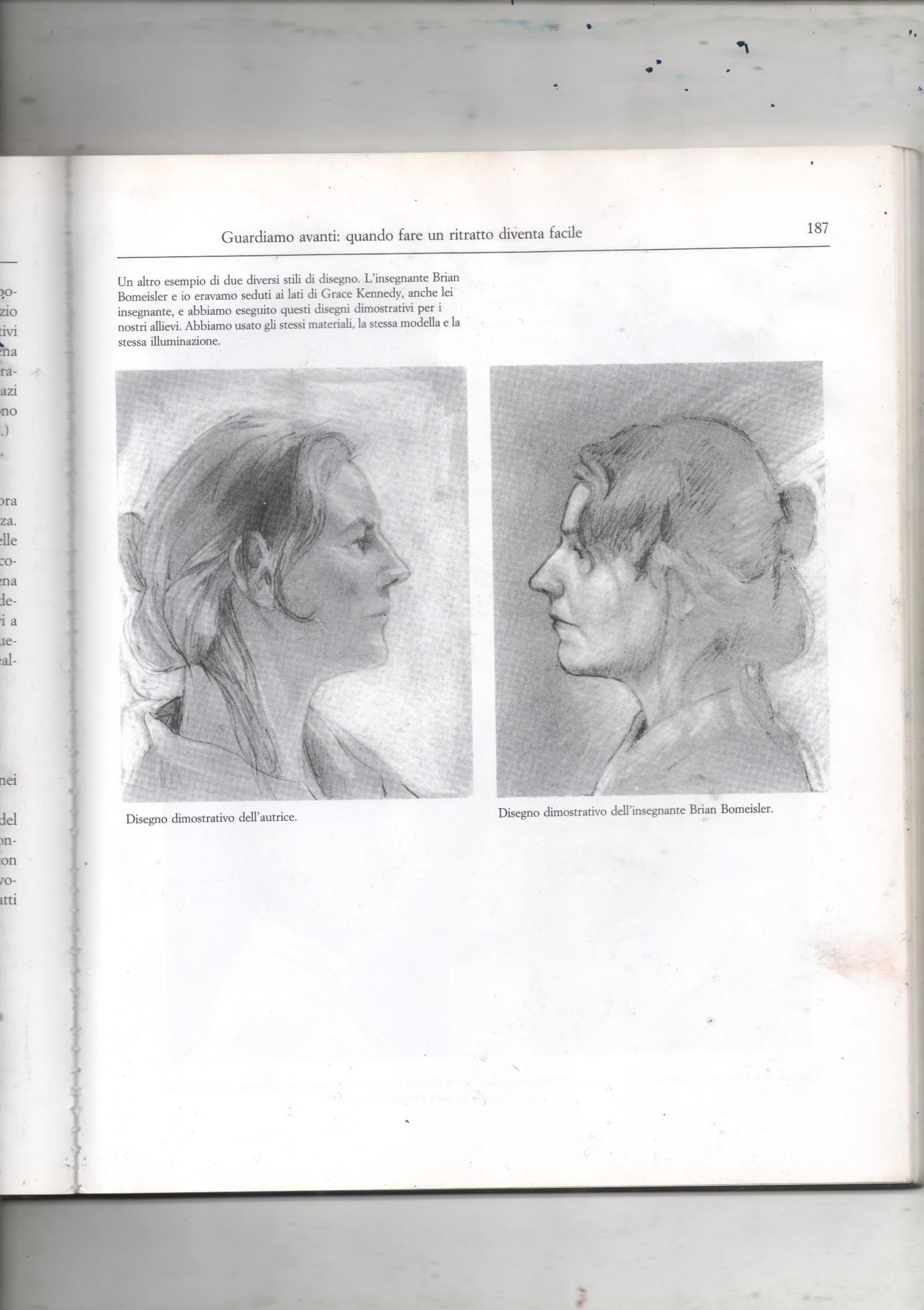 """Giuseppe Renda, due ritratti da """"Disegnare con la parte destra del cervello"""" di Edwards Betty (1979)"""