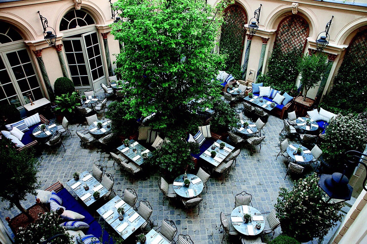 Tucked away in a quiet courtyard off of St. Germain: the courtyard at Ralph's #PFW