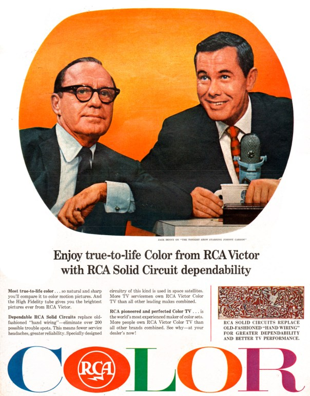 RCA featuring Jack Benny and Johnny Carson - 1965