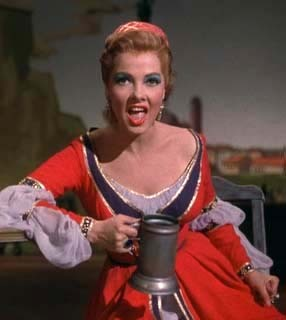Kathryn Grayson als Kate, Kiss Me Kate, 1953 via Yvette Can Draw, 27. November 2011