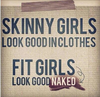 Skinny Girls look good inclothes fit girls look good naked