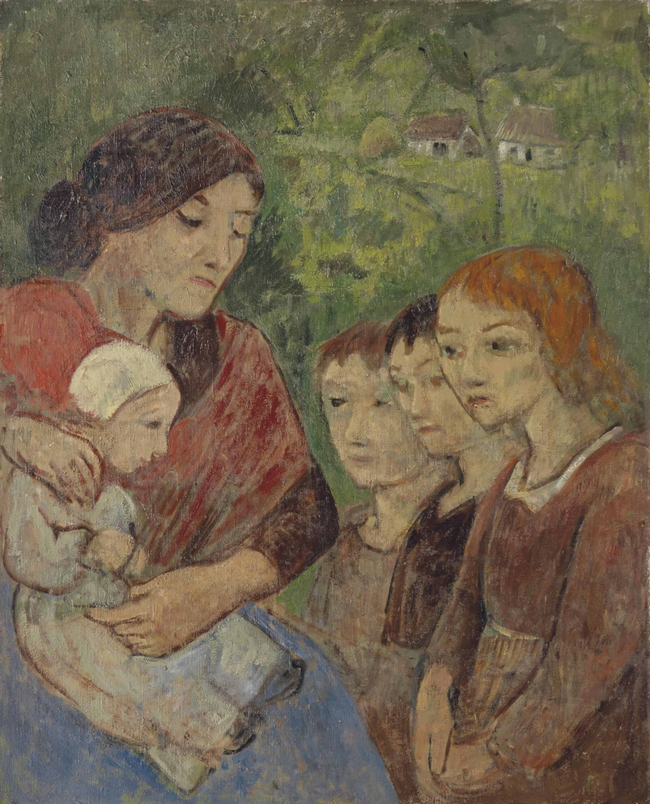 lawrenceleemagnuson:Paul Sérusier (1863-1927)Mère et enfants (1900)oil on canvas 81 x 65.5 cm