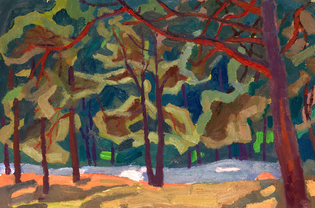 bofransson:  Pine Trees on the DunesViktor Popkov (1965)